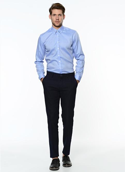 George Hogg Slim Fit Kanvas Pantolon Lacivert